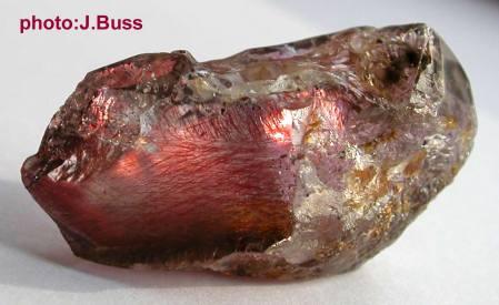 Lepidochrosite (Iron Oxide) in Quartz